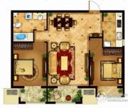 懿品府2室2厅1卫91平方米户型图
