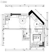 翰林尚品2室1厅1卫51平方米户型图