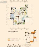 奥园城市天地3室2厅2卫101平方米户型图