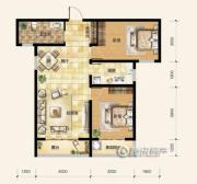 雍和慢城2室1厅1卫0平方米户型图