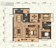 万佳一品・尚书茗苑3室2厅2卫132平方米户型图