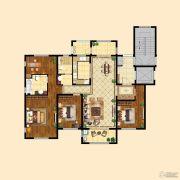 中粮祥云4室2厅2卫140平方米户型图