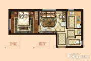 中海学府公馆1室1厅1卫50平方米户型图