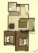 印象城・牛津花园2室2厅1卫70平方米户型图