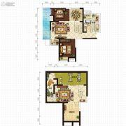 金沙星城2室2厅1卫194平方米户型图