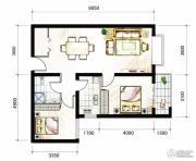 山海城邦・马街摩尔城2室2厅1卫89平方米户型图