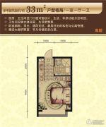 太湖国际花园1室1厅1卫33平方米户型图