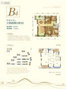 荣安林语春风4室2厅2卫0平方米户型图