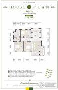 亿达第一郡4室2厅2卫149平方米户型图
