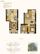 世茂海峡城0室0厅0卫108平方米户型图