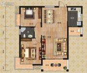 富恒・金鹏嘉苑二期2室2厅2卫124平方米户型图