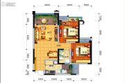 远大中央公园2室2厅1卫75平方米户型图