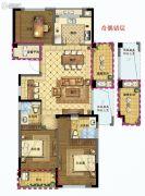 众安学君里3室2厅2卫118平方米户型图
