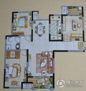 嘉亿国际3室2厅1卫113--114平方米户型图