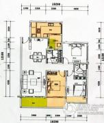 云顶澜山3室2厅2卫102平方米户型图