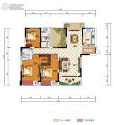 中国电建・湘熙水郡4室2厅2卫142平方米户型图