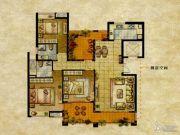 达安上品花园3室2厅2卫139平方米户型图