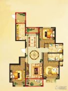 国润溪香米兰3室2厅2卫146平方米户型图