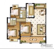 华强城3室2厅2卫118平方米户型图