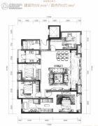 万科御澜道4室2厅2卫151平方米户型图