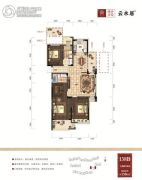 绿谷庄园3室2厅2卫138平方米户型图