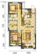 碧桂园・学府壹号3室2厅1卫101平方米户型图