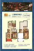 韵湖国际3室2厅2卫0平方米户型图