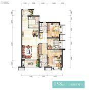 时代香海彼岸3室2厅2卫98平方米户型图