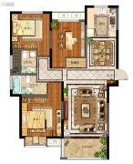 天地源拾锦香都3室2厅2卫125平方米户型图