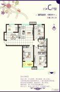 铂宫时代3室2厅2卫126平方米户型图