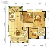 春天印象二期3室2厅2卫113平方米户型图