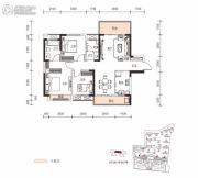 长房云时代3室2厅2卫116平方米户型图