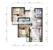 中国铁建国际城2室2厅1卫89平方米户型图