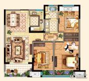 明发江湾新城3室2厅1卫98平方米户型图