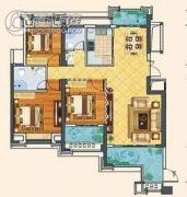 漳浦福晟钱隆首府3室2厅2卫0平方米户型图
