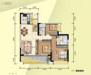 普君新城・华府3室2厅2卫129平方米户型图
