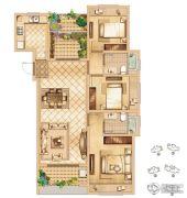 首创悦都3室2厅1卫115平方米户型图
