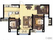 保利海德公馆3室2厅1卫95平方米户型图