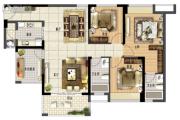 鑫月城4室2厅2卫117平方米户型图