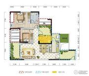 远达春天里3室2厅2卫105平方米户型图