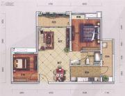 萝岗奥园广场2室2厅1卫81平方米户型图