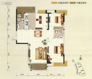 凯旋堡3室2厅2卫122--123平方米户型图