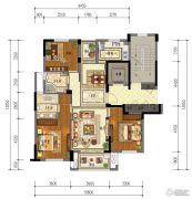 东泰・春江名园3室2厅2卫126平方米户型图