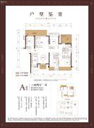 融创・九棠府3室2厅1卫143平方米户型图