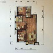 金地锦城3室2厅1卫98平方米户型图