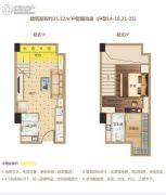 洋湖时代广场0室0厅0卫35平方米户型图