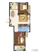 金城・康桥名郡2室1厅1卫89平方米户型图