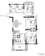 鼓浪屿小镇3室2厅1卫119平方米户型图