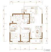 东胜紫御府3室2厅2卫119平方米户型图