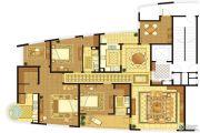 长顺滨江皇冠5室2厅3卫227平方米户型图